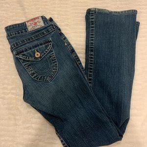 Like New True Religion Blue Jeans Size 28